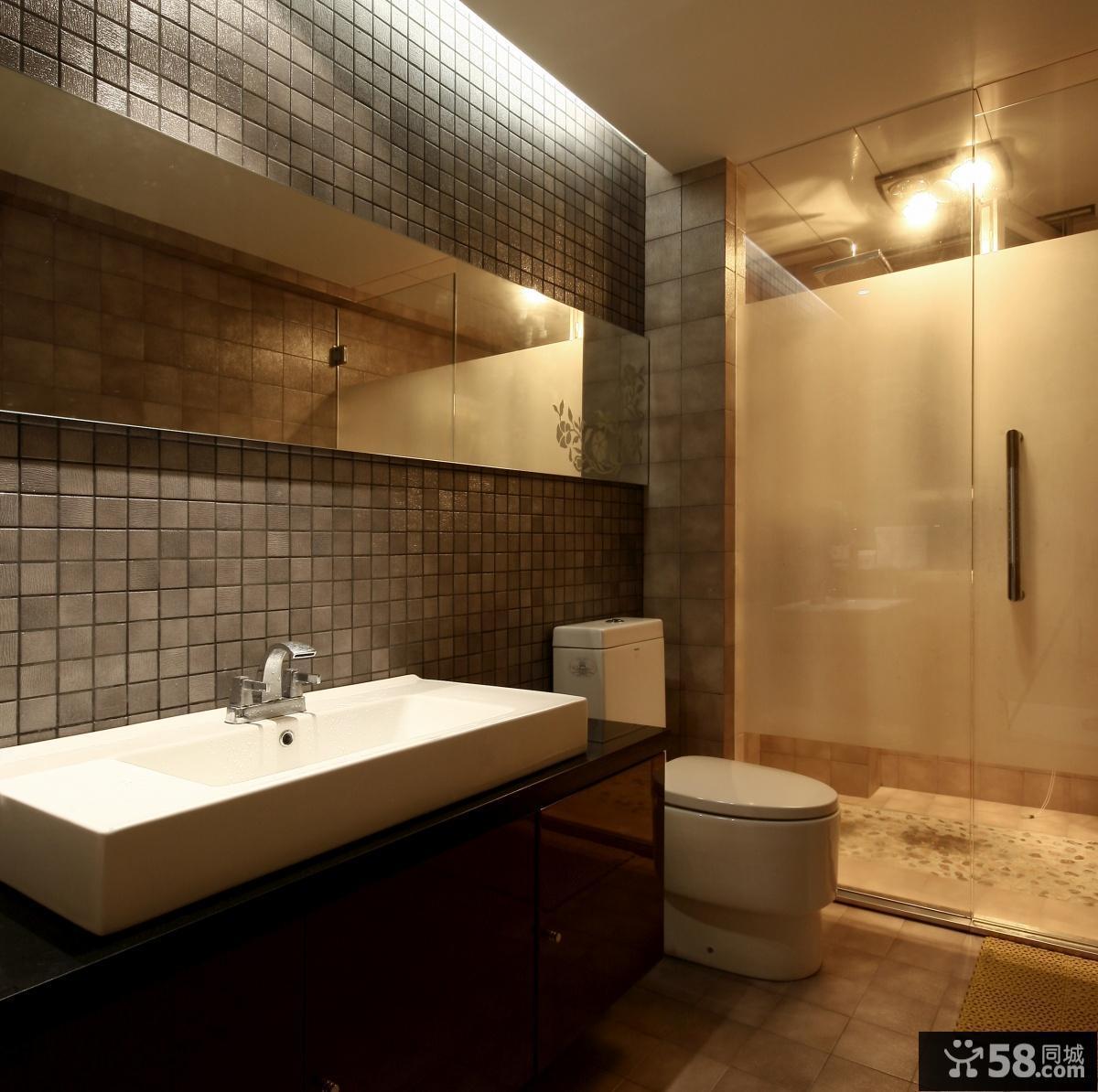 现代风格卫生间瓷砖设计效果图