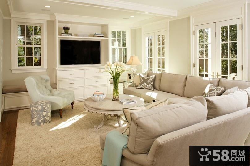 简欧客厅装修效果图 30平米客厅装修效果图
