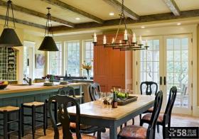美式风格家装厨房效果图