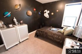现代男儿童房卧室装修效果图