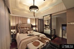 美式现代三居设计装饰效果图