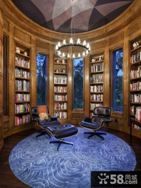 欧式家庭书房装修设计图片