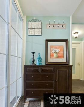 室内实木玄关柜装饰效果图
