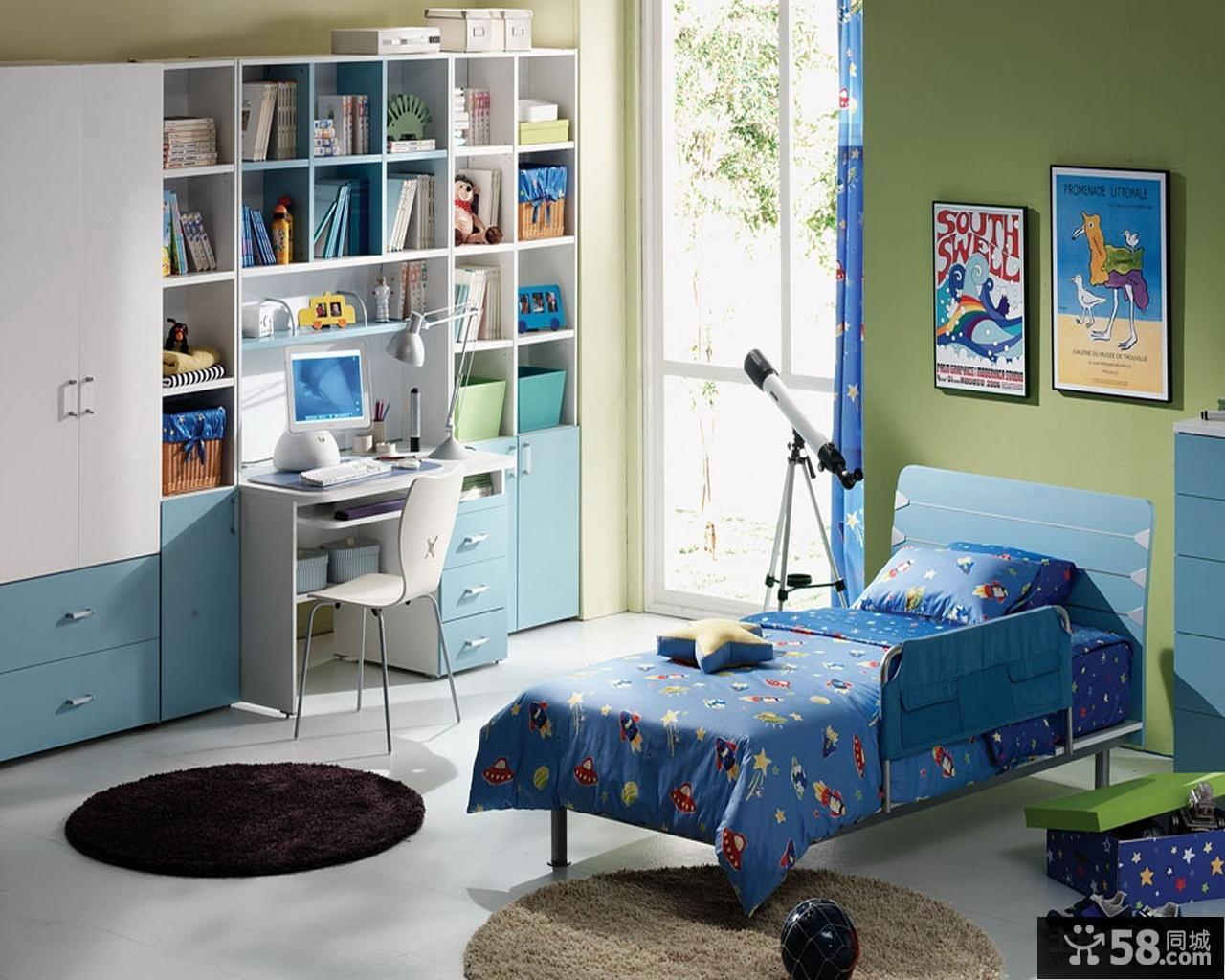 儿童书房效果图 儿童房设计效果图