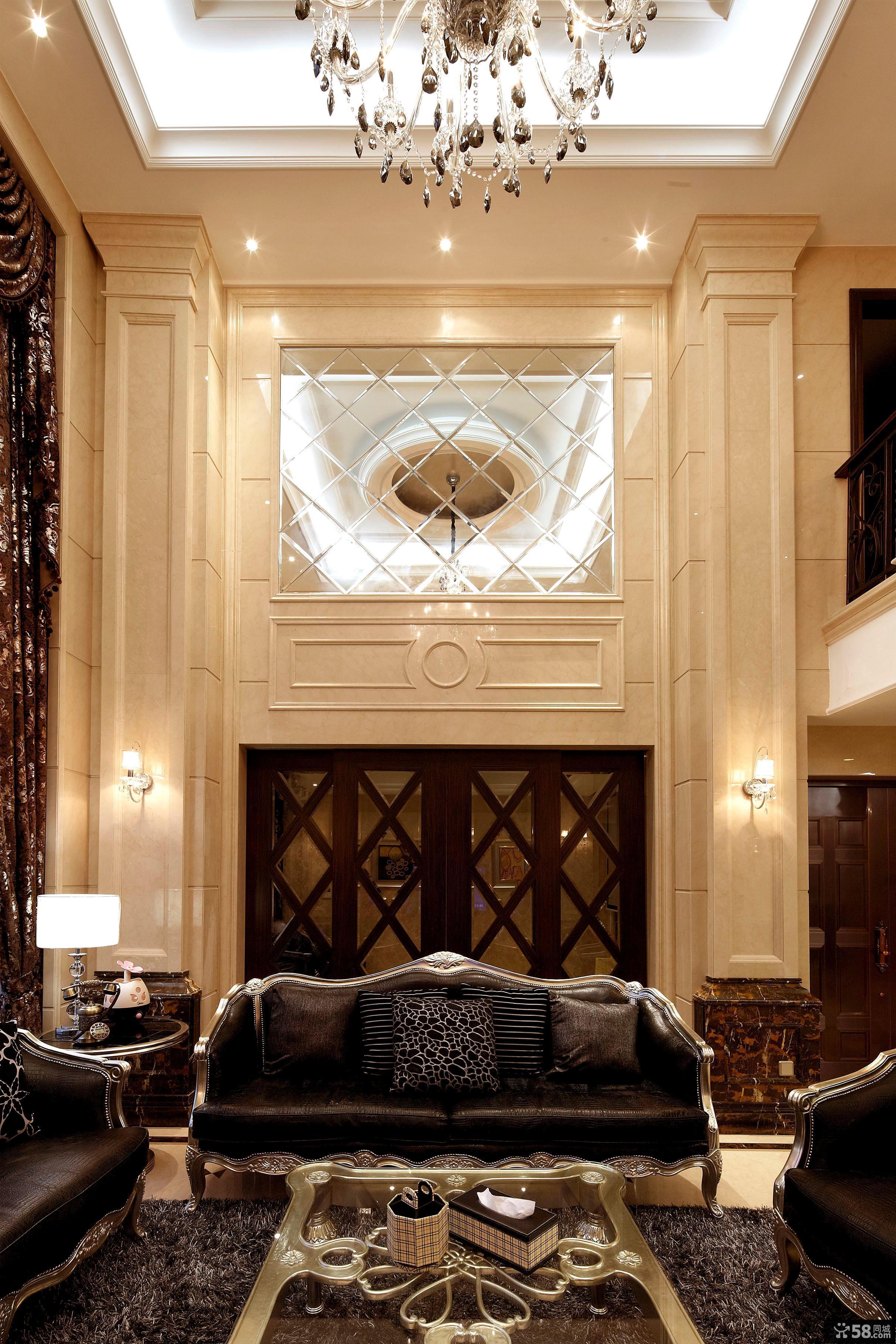 新古典别墅楼中楼装修效果图