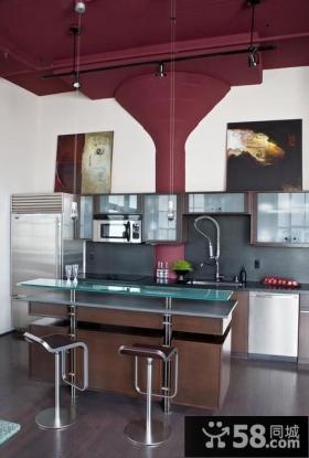 紫色客厅天花板装修效果图