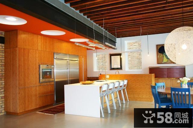 半开放式厨房设计效果图