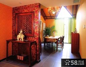 东南亚装修风格餐厅装修效果图片