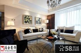 新古典客厅沙发摆设效果图欣赏