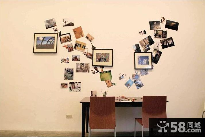 简欧餐厅照片墙效果图