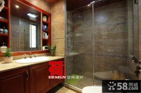 美式卫生间设计效果图片
