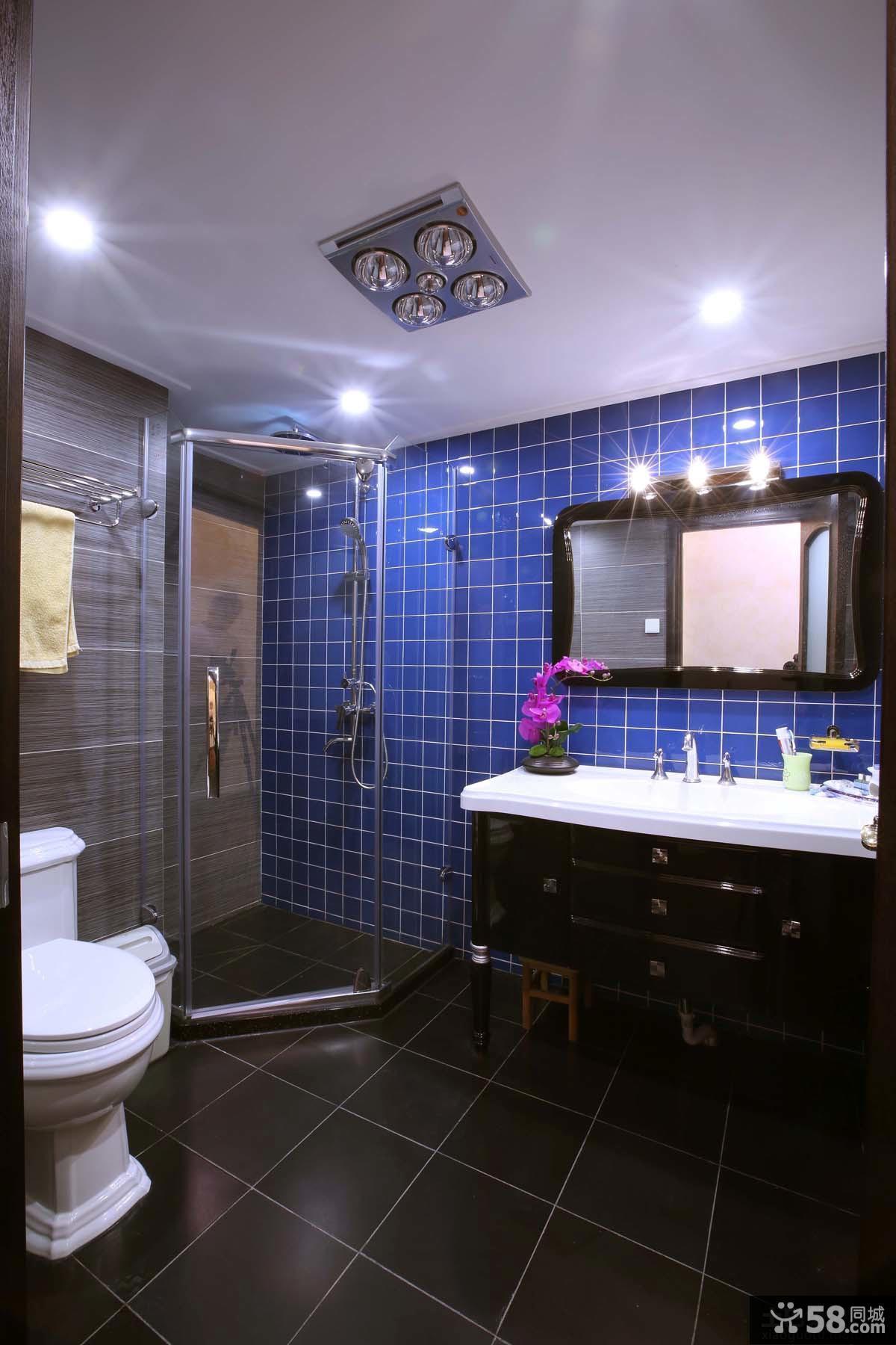 家庭卫生间淋浴室隔断设计图片