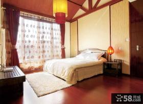 新中式家装卧室装饰效果图