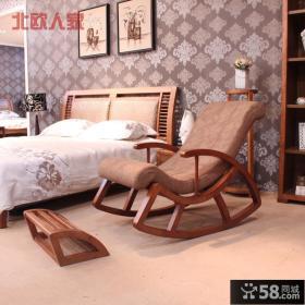 实木质躺椅图片