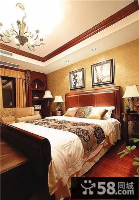 豪华美式卧室装修图片
