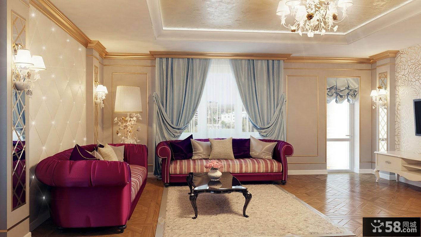 2013欧式客厅窗帘效果图片欣赏