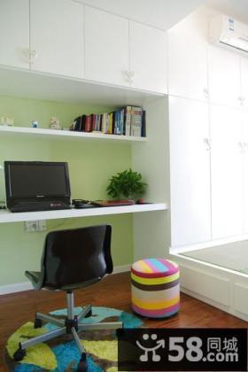 时尚绿色现代书房装修