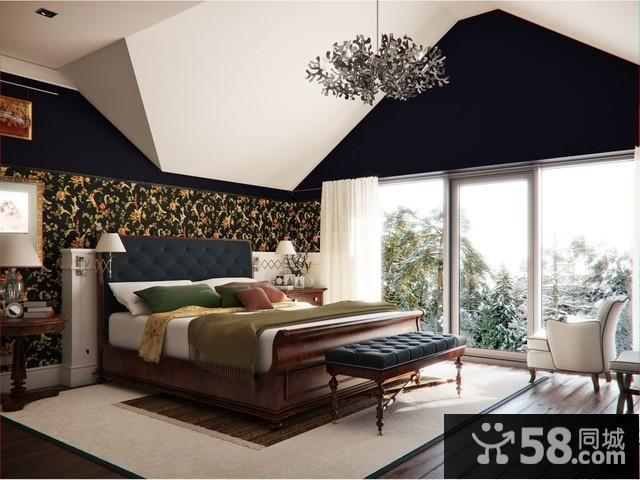 紫色卧室装修图