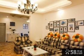 田园风格装修小客厅图片