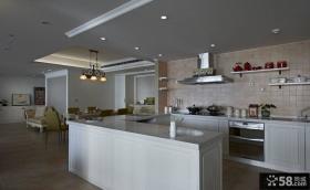 现代家居别墅开放式厨房效果图