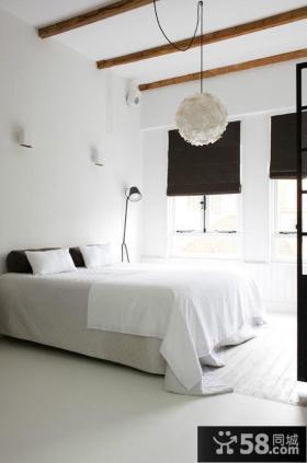 黑白简约的卧室吊顶装修效果图