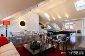 140平米现代时尚阁楼装修效果图客厅图片