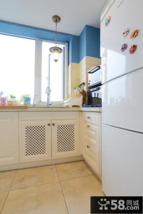 田园风格厨房橱柜装修设计2015