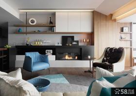现代简约设计客厅室内效果图片