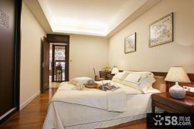 中式三居室卧室装修效果图大全2012图片