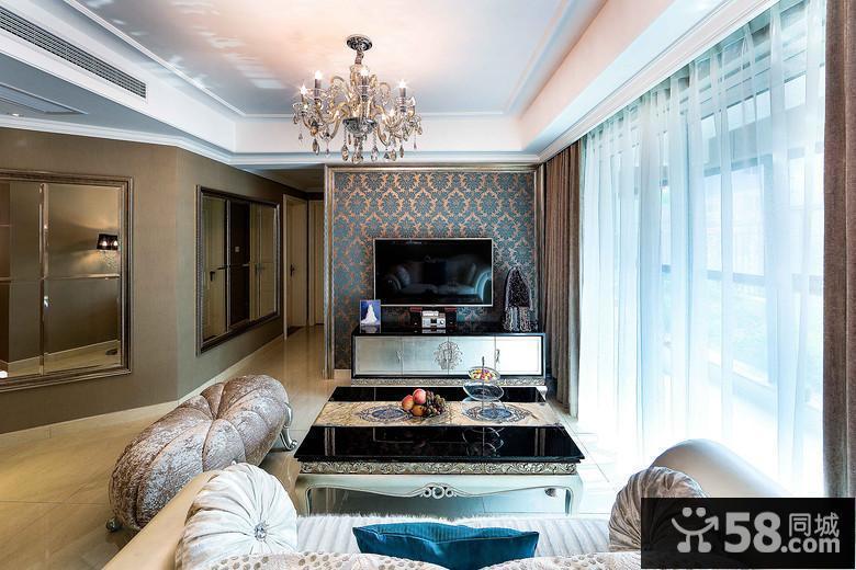 客厅欧式电视背景墙效果图