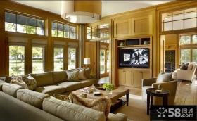 法式田园风格客厅电视柜效果图