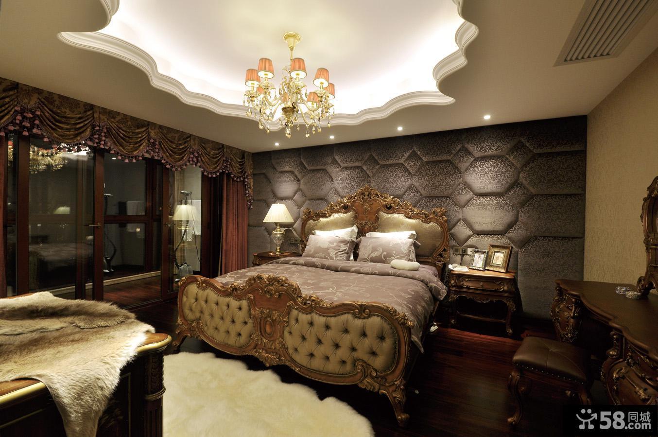 20平米欧式古典风格卧室装修效果图