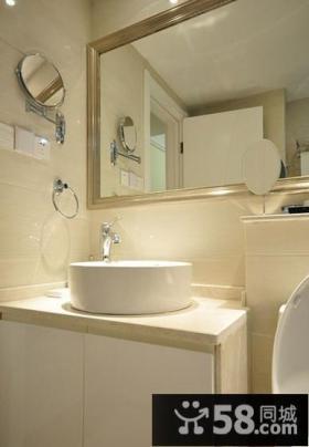 卫生间装修效果图 米色调卫生间装饰