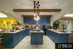 混搭美式风格四室两厅厨房装修效果图