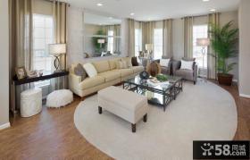 90㎡小户型温馨的宜家风格客厅装修效果图大全2014图片