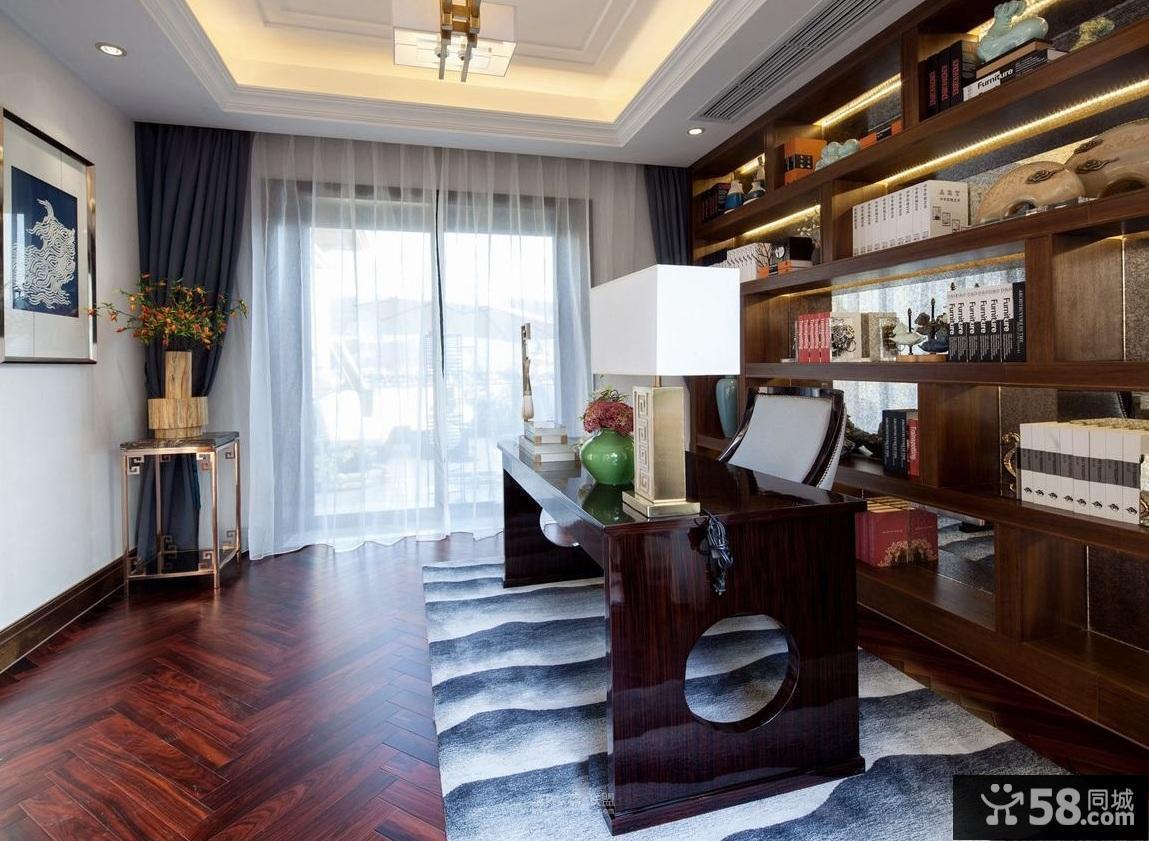 中式客厅电视墙效果图