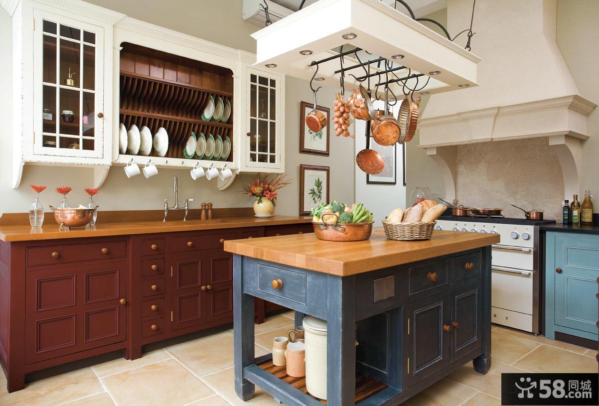 美式整体厨房装修图片