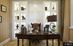 现代欧式风格豪华书房设计效果图