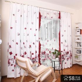 暖色调卧室窗帘效果图