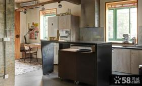 现代粗犷工业风厨房装修