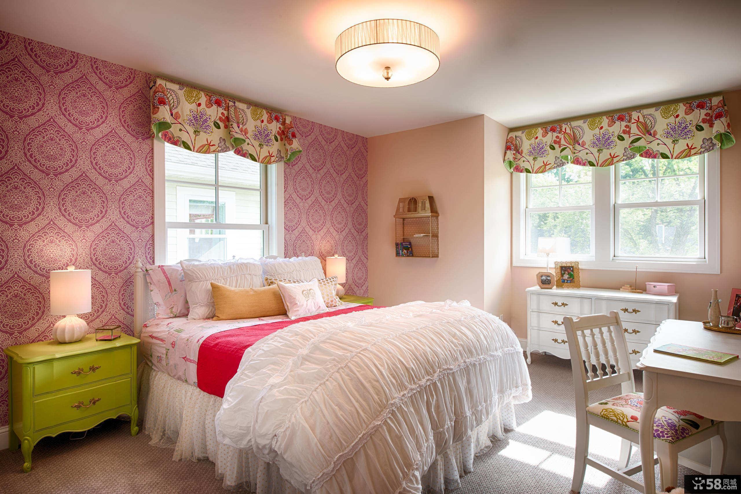 粉色温馨家居儿童房美图