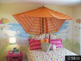 儿童房背景墙装饰效果图