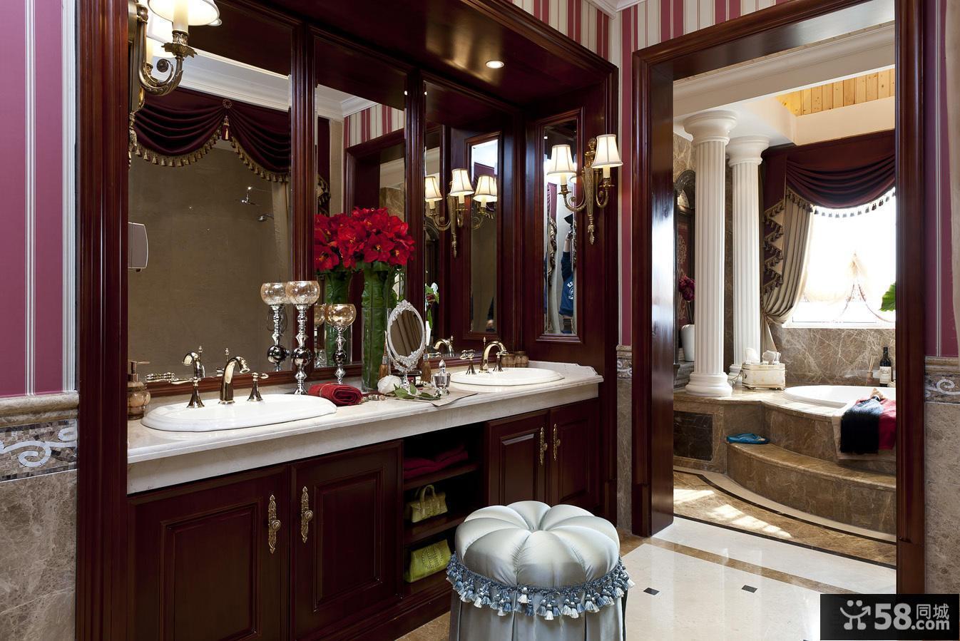 美式别墅卫生间设计图片大全