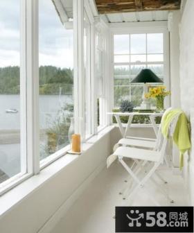现代简约卧室阳台装修效果图欣赏