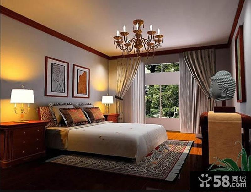 现代简约卧室壁纸装修效果图