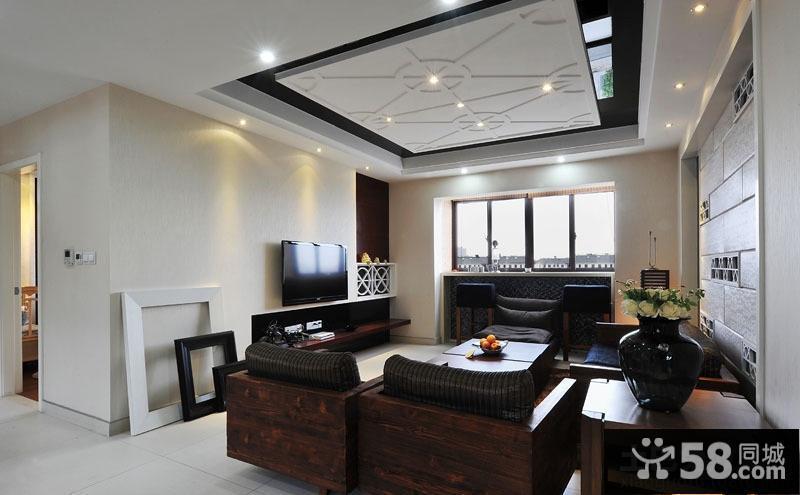 简约中式风格电视背景墙