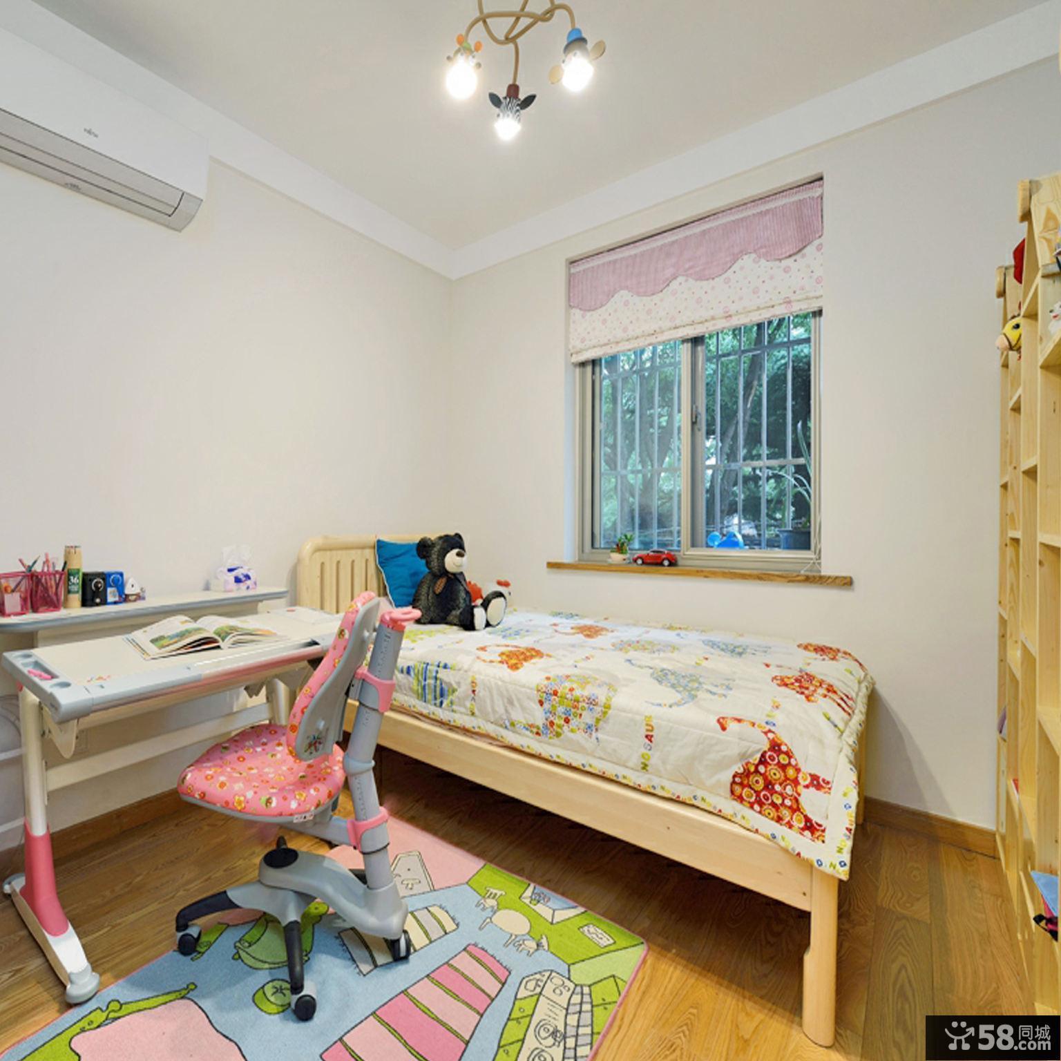 简洁日式小清新三居室装修设计效果图
