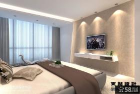 别墅卧室电视背景墙装修设计图