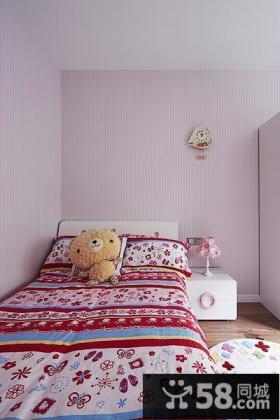 浅紫色现代儿童房装修