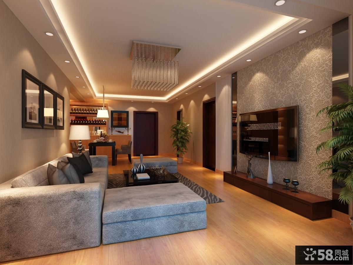 最新简约风格客厅电视背景墙装修效果图大全2013图片